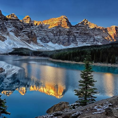 Wonderful Banff National Park mountain reflection wallpaper