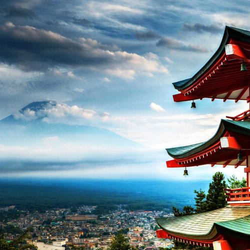 Wonderful Japanese temple wallpaper