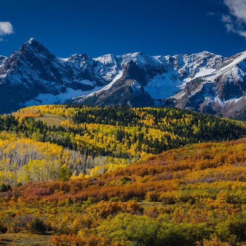 Wonderful mountain landscape in Aspen