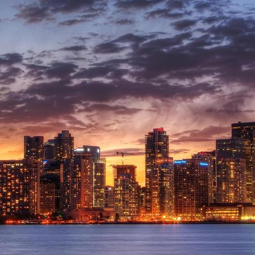 Wonderful Toronto Cityscape at sunset wallpaper
