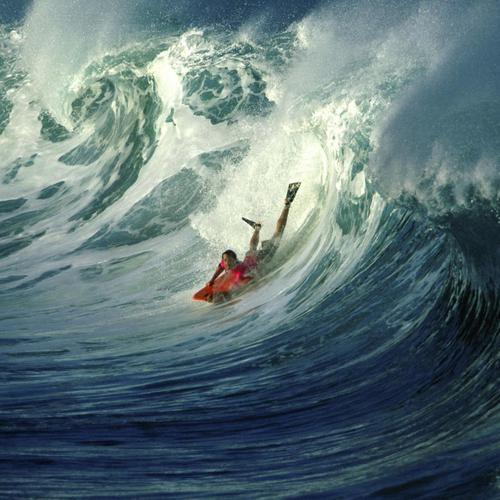 Wonderful wave body surfing