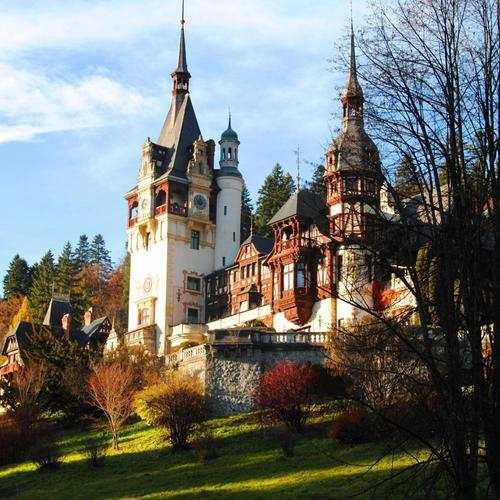 Wondrous Peles Castle In Romania wallpaper