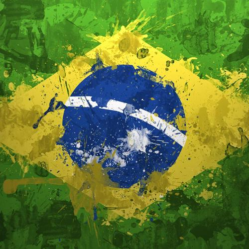 World cup 2014 Brazil painting flag