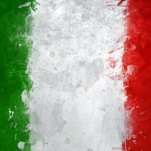 World cup 2014 Italy painting flag