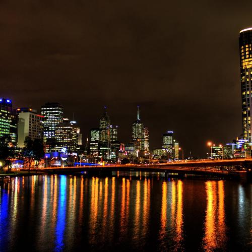 Yarra River in night wallpaper