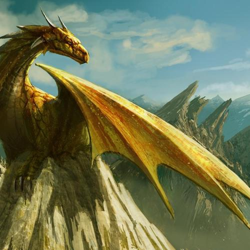 Yellow Dragon wallpaper