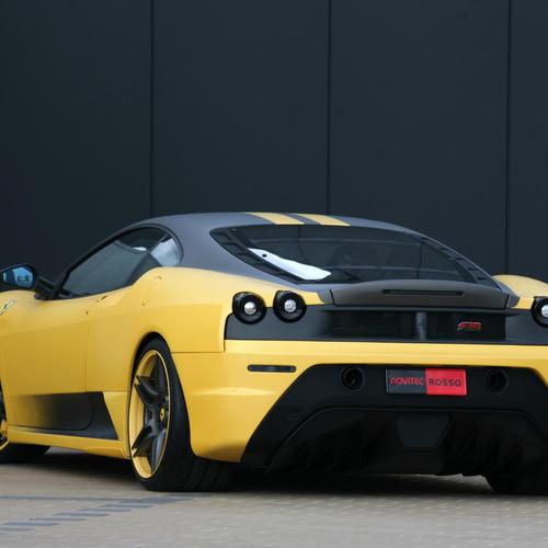 Yellow tuned Ferrarri wallpaper