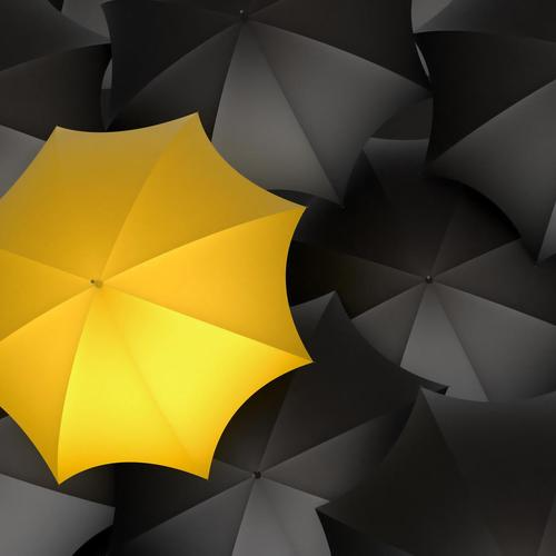 Yellow umbrella and the others - be unique wallpaper