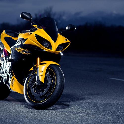 Yellow Yamaha R1
