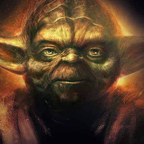 yoda starwars art dark illlust film poster