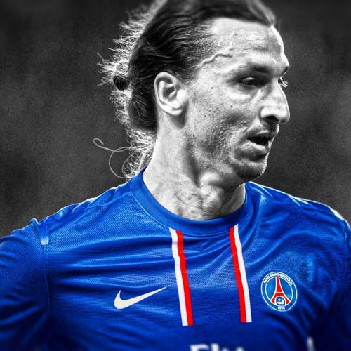 Zlatan Ibrahimovic black and white
